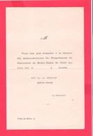 Ancienne Convocation ND Du Coral Prats De Mollo - Old Paper