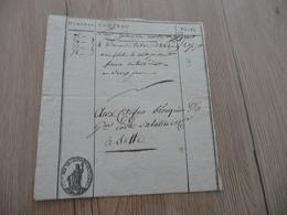 Transport Militaire Tabac Lettre De Voiture Roulage 1793 Pour Cette Sète Blouquier - Documents