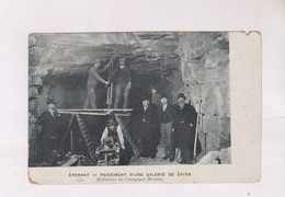 CPA 51 EPERNAY, PERCEMENT D UNE GALERIE DE CAVES (pub Mercier  Au Dos) - Epernay