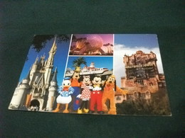 WALT DISNEY WORLD  VEDUTE PERSONAGGI DISNEY CASTELLO  HOTEL HOLLYWOOD TRENO SFERA - Disneyworld