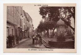 - CPA ANTIBES (06) - Le Boulevard Aiguillon - Edition Munier N° 56 - - Antibes