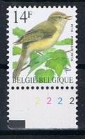 Belgie OCB 2623 (**) Met Plaatnummer 2 - 1985-.. Birds (Buzin)