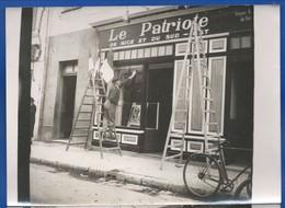 Photographie   Nice   Le Patriote  Devanture        Dimension: 18 X 13 Cm - Nizza