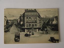 ISERE-GRENOBLE-1550-AVENUE DE LA GARE ET ALSACE LORRAINE ED ER ANIMEE TRAMWAY - Grenoble