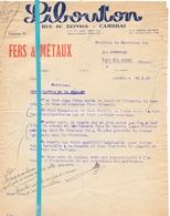 Factuur Facture - Fers & Metaux Libouton - Cambrai - 1945 - France