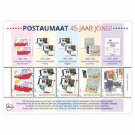 Nederland  2018   Zegel Op Zegel Stamp On Stamp 4 Atm Rollstamps  Flower Butterfly      Blok/m/s   Postfris/mnh/neuf - Period 1980-... (Beatrix)