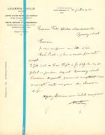 Factuur Facture - Petroleum Compagny - Leclercq - Pouille - Petit Ronchin 1925 - France
