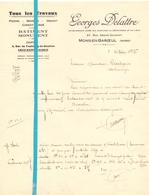 Factuur Facture - Tous Les Travaux - Georges Delattre - Mons En Baroeul - 1935 - France