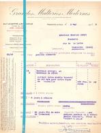 Factuur Facture - Grandes Malteries Modernes - Marquette Lez Lille - 1935 - Francia