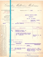 Factuur Facture - Grandes Malteries Modernes - Marquette Lez Lille - 1935 - Frankrijk