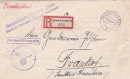German Feldpost WW2: Registered Cover From Gendarmerieabteiling Prien, Landkreis Rosenheim To Gendarmerieposten - Militaria