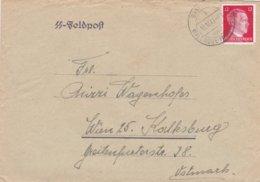 German SS Feldpost WW2: Franked Cover From Gendarmerieposten Sannikau (Kreis Waldrode) P/m Sannikau - Militaria
