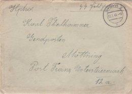 German SS Feldpost WW2: To Gendarmerieposten Möttning Untersteiermark P/m Steyr 2 10.5.1944 - Letter Inside - Militaria