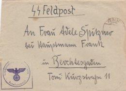 German SS Feldpost WW2: Gendarmerieposten Zell-Pfarre (Kreis Klagenfurt) P/m Ferlach - Date Difficult - Militaria