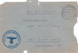 German SS Feldpost WW2: Front Only From Lovrenc Na Pohorju In Slovenia - Gendarmerieposten Lorenzen - Militaria