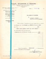 Factuur Facture - Huiles Goudrons & Dérivés - Lens 1954 - France