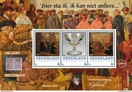 Nederland  2017  500jr Reformation  Blok-,/s  Postfris/mnh/neuf - Period 1980-... (Beatrix)