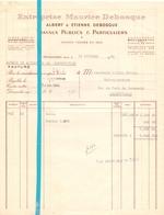Factuur Facture - Entreprises Maurice Debosque - Armentières 1946 - France