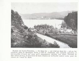 1924 - Iconographie - Revel (Aude) - Le Lac De Saint-Férréol - FRANCO DE PORT - Old Paper
