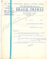 Factuur Facture - Fers & Metaux - Bracq Frères - Le Cateau - 8 Avril 1941 - France
