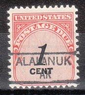 USA Precancel Vorausentwertung Preo, Locals Alaska, Alakanuk 835,5 - Etats-Unis