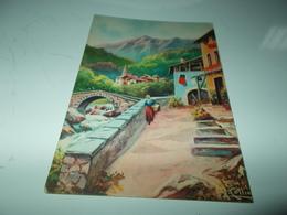 B704  Illustrazione Paesaggio Montano Timbro Aas.nazionale Tubercolosi Di Guerra Federazione Salerno - Vari