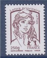= Marianne Et La Jeunesse Gommé TVP Lettre Prioritaire -250g France  N° 4773 Brun-prune Neuf - 2013-... Marianne De Ciappa-Kawena