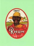 Etiquette Rhum Obito, - Rhum