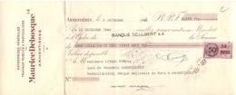 Wissel - Reçu - Entreprise Maurice Desbosque - Armentières - 1946 - Lettres De Change