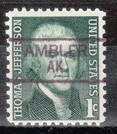 USA Precancel Vorausentwertung Preo, Locals Alaska, Ambler 835,5 - Etats-Unis