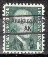 USA Precancel Vorausentwertung Preo, Locals Alaska, Anaktuvuk Pass 843 - Etats-Unis