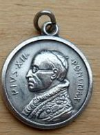 Médal-113 Médaille PIUS XII Au Dos ROMA - Godsdienst & Esoterisme
