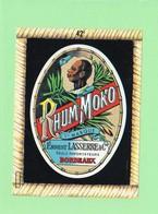 Etiquette Rhum Moko, Ernest Lasserre, Bordeaux, 14x10.5 Cm, Visage Créole. - Rhum