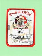 Etiquette Rhum Du Créole, Martique, A. Guillot, Dignac, Charente - Rhum