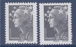 = Marianne De Beaujard, N°4228a Et 4228 Neuf Gommé 0.10€ Gris - 2008-13 Marianne Of Beaujard