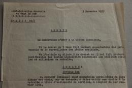 Administration Générale Et Gens De Mer, Marine Marchande, Mise à La Retraite, 1953 - Collections