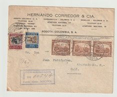 MiNr. 323 U.a. Kolumbien 1932, Juni. Freimarken: Bergbau Und Landwirtschaft. StTdr. Mit Druckvermerk WATERLOW & SONS L - Kolumbien
