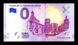 España Billete Souvenir Suvenir 0 Cero Euro 2018 Plaza De La Virgen Valencia - España