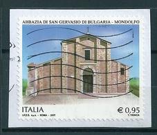 2017 ABBAZIA SAN GERVASIO MONDOLFO USATO - 6. 1946-.. Repubblica
