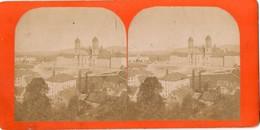 RARE  PHOTO  STEREOSCOPIQUE - EINSIEDELN  ( Suisse)  Vue De L' EGLISE - 23 Juin 1883 - Photos Stéréoscopiques