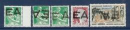 ALGERIE LOT DE 5 TIMBRES SURCHARGE EA ** - Algérie (1962-...)