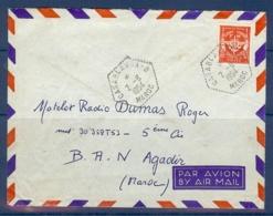 MAROC LETTRE FM OBLITERE CASABLANCA B DU 02/08/54 - Lettres & Documents