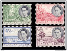 Ruanda 0196/99* Baudouin Et Paysages  H - - Ruanda-Urundi