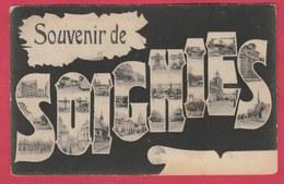 Soignies - Souvenir De ... Vues Dans Les Lettres -1908 ( Voir Verso ) - Soignies