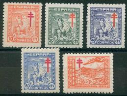 España 1944. Edifil 984/88** - Pro Tuberculosos - 1931-50 Nuevos & Fijasellos