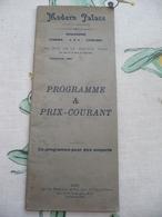 Gent Modern Palace Brasserie Cinema Concert Rue De La Station 1920  Reclame 48 Blz - Programmi