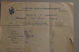 Bulletin Cours Saint-Dominique à La Celle (Var), 1952 - Diplômes & Bulletins Scolaires
