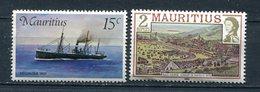Ile Maurice-1976-1978-YT 419,465**-bateau,race Course - Mauritius (1968-...)