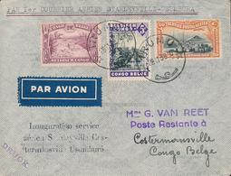 BELGIAN CONGO  AIR FIRST FLIGHT FROM IRUMU 28.11.39 TO COSTERMANSVILLE - Congo Belge