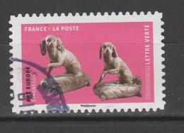 """FRANCE / 2018 / Y&T N° AA 1525 : """"Les Chiens Dans L'art"""" (Art Europe - Epagneuls) - Oblitération 2018. SUPERBE ! - Frankreich"""